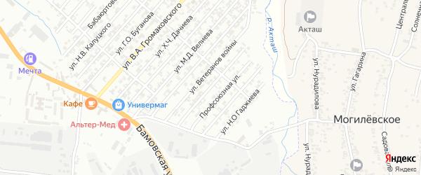 Улица Кузнецова Н.Г. на карте Хасавюрта с номерами домов