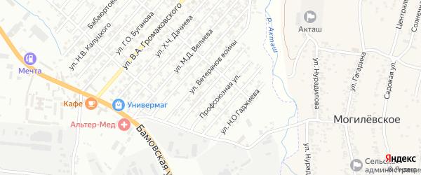 Улица Кузнецова Н.Г. на карте поселка Бамматбекюрта с номерами домов