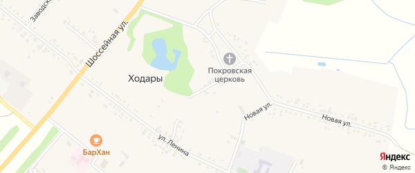 Улица Красная Площадь на карте села Ходары с номерами домов