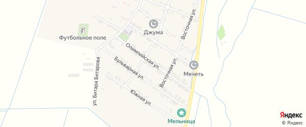 Олимпийская улица на карте села Цияба Ичичали с номерами домов