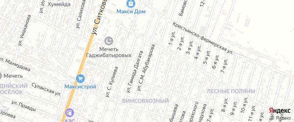 Улица Умаханова М-С. на карте Хасавюрта с номерами домов