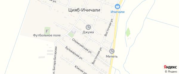 Школьная улица на карте села Цияба Ичичали с номерами домов