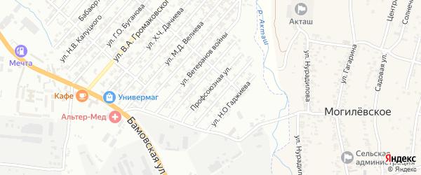 Профсоюзная улица на карте поселка Бамматбекюрта с номерами домов