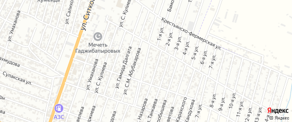 Улица Ахмет-Хана Султана на карте Хасавюрта с номерами домов