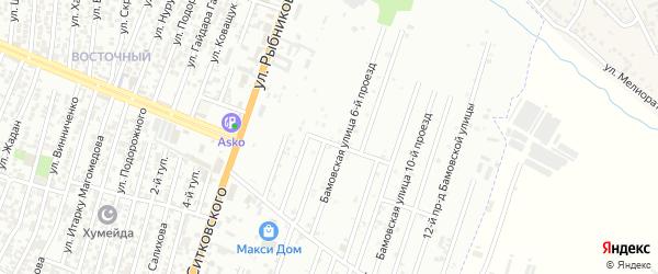Кандауровский 5-й проезд на карте Хасавюрта с номерами домов