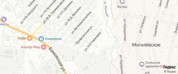Улица Исрафилова А.И. на карте поселка Бамматбекюрта с номерами домов