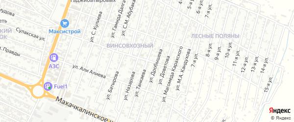 Улица Танкаева М. на карте Хасавюрта с номерами домов