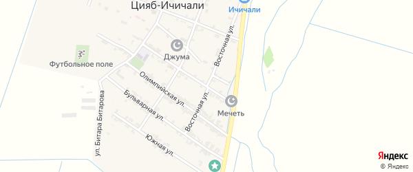 Восточная улица на карте села Казмаула с номерами домов
