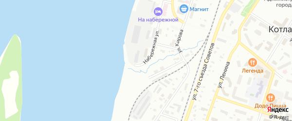 Набережная улица на карте Котласа с номерами домов