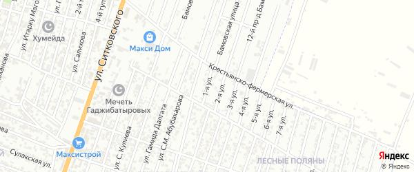 Лесные поляны улица 1-й проезд на карте Хасавюрта с номерами домов