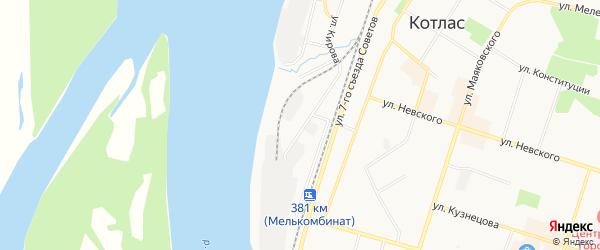 ГСК N19 на карте улицы Кирова с номерами домов