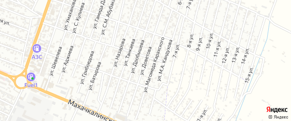 Улица Доветова Ш.Т. на карте Хасавюрта с номерами домов