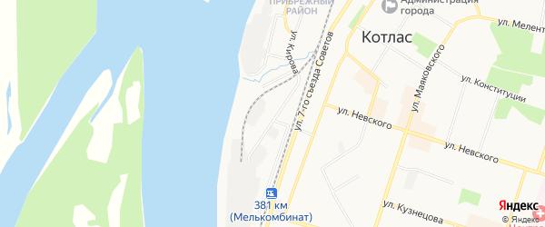 ГСК N25 на карте улицы Кирова с номерами домов