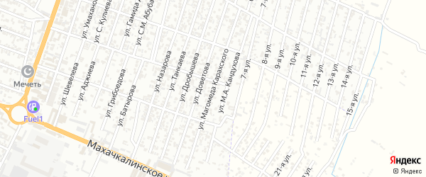 Улица Карахского на карте Хасавюрта с номерами домов