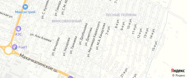 Улица Магомеда Гаджиева на карте Хасавюрта с номерами домов