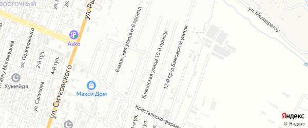 Грозненский 10-й проезд на карте Хасавюрта с номерами домов