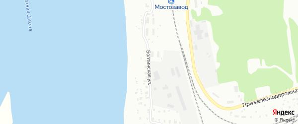 Болтинская улица на карте Котласа с номерами домов