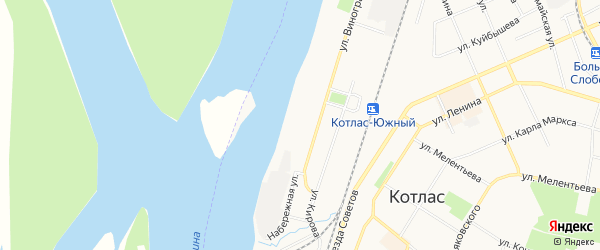 ГСК N3 на карте улицы Виноградова с номерами домов