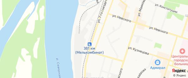 ГСК N6 на карте улицы 7-го Съезда Советов с номерами домов