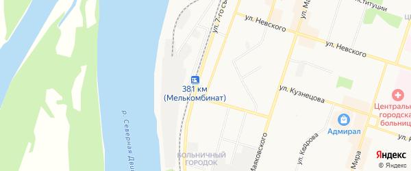 ГСК N7 на карте улицы Ленина с номерами домов