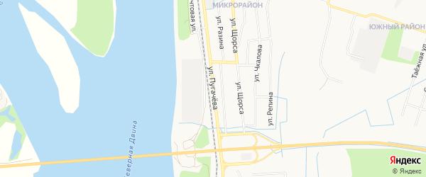 ГСК N76 на карте улицы Пугачева с номерами домов