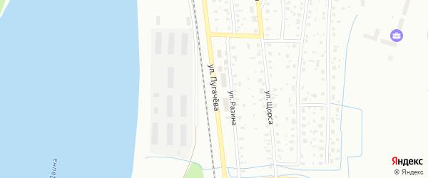 Улица Пугачева на карте Котласа с номерами домов
