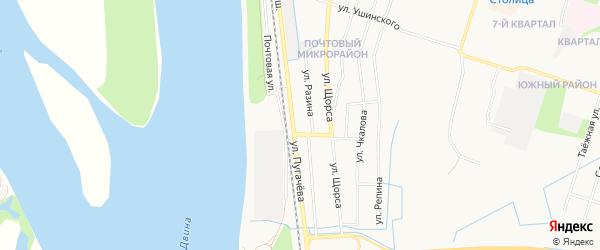 ГСК N15 на карте улицы Пугачева с номерами домов