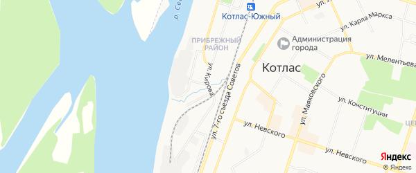 ГСК N110 на карте улицы Кирова с номерами домов