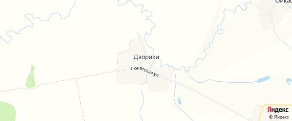 Карта деревни Дворики в Чувашии с улицами и номерами домов