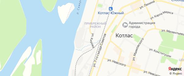 ГСК N134 на карте улицы Кирова с номерами домов