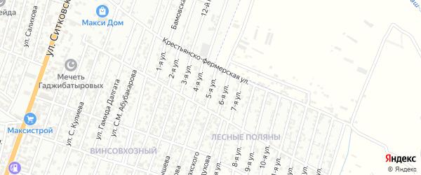 Лесные поляны улица 5-й проезд на карте Хасавюрта с номерами домов