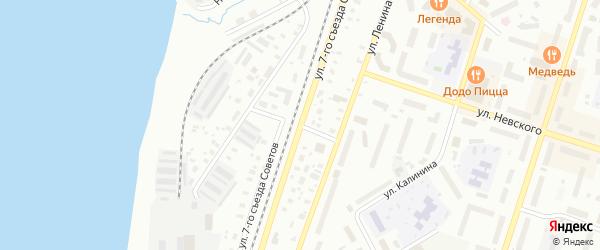 Улица Фрунзе на карте Котласа с номерами домов