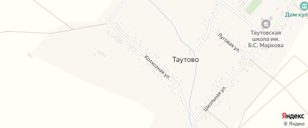 Колхозная улица на карте деревни Таутово с номерами домов