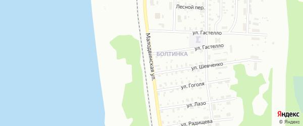 Малодвинская улица на карте Котласа с номерами домов