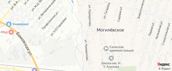 Улица Нурадилова на карте Могилевского села с номерами домов