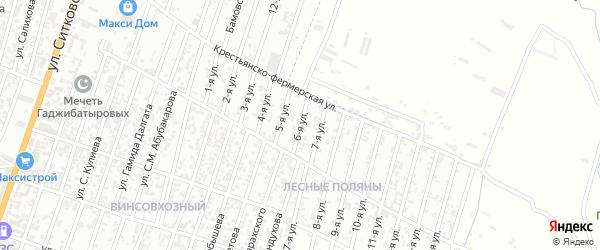 Лесные поляны улица 6-й проезд на карте Хасавюрта с номерами домов