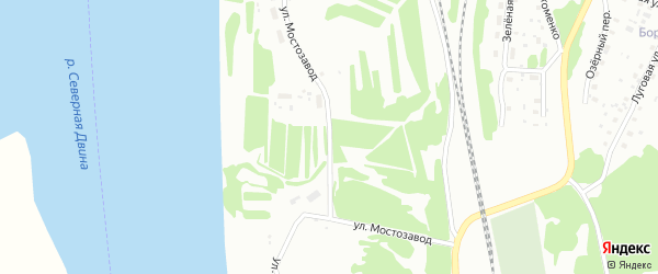 Улица Мостозавод на карте Котласа с номерами домов