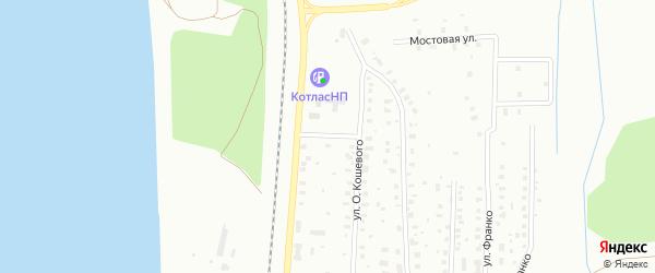 Северная улица на карте Котласа с номерами домов