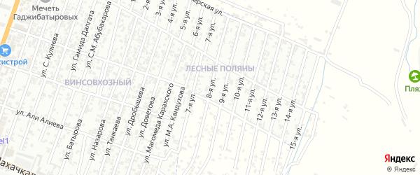 Бетлинская улица 8-й проезд на карте Хасавюрта с номерами домов