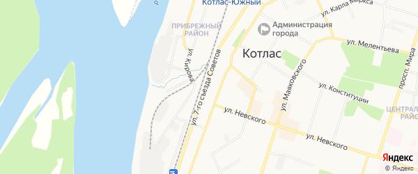 ГСК N42 на карте улицы 7-го Съезда Советов с номерами домов