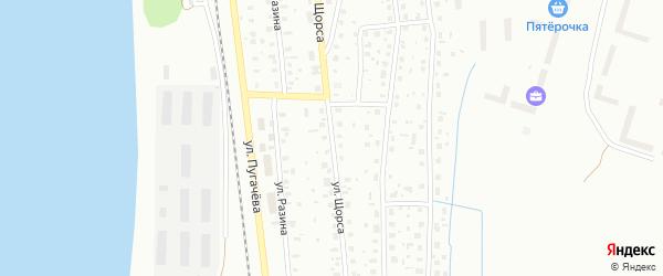 Улица Щорса на карте Котласа с номерами домов