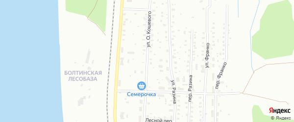 Улица О.Кошевого на карте Котласа с номерами домов