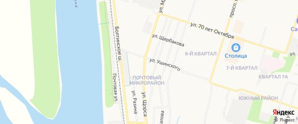 ГСК N12 на карте улицы Ушинского с номерами домов