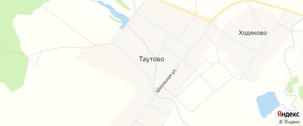 Карта деревни Таутово в Чувашии с улицами и номерами домов