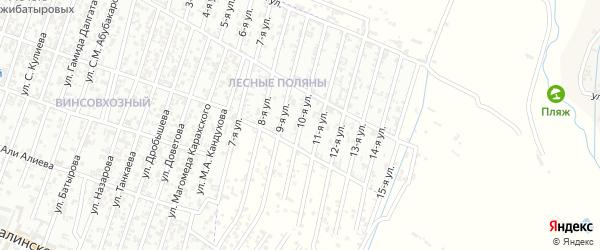 Лесные поляны улица 10-й проезд на карте Хасавюрта с номерами домов