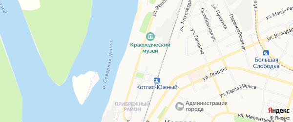 ГСК N87 на карте улицы Кирова с номерами домов