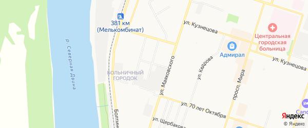 ГСК N86 на карте улицы Павлова с номерами домов