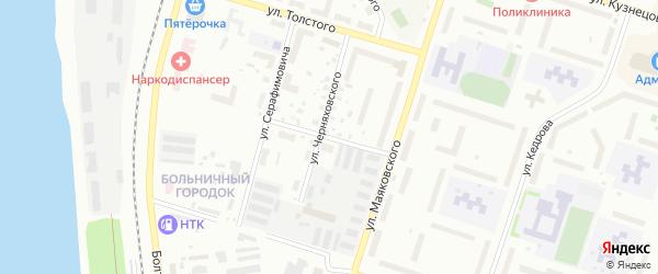 Улица Павлова на карте Котласа с номерами домов