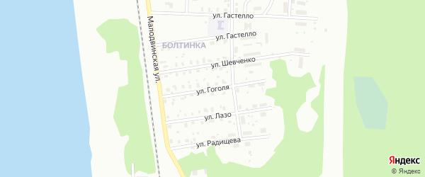 Улица Гоголя на карте Котласа с номерами домов