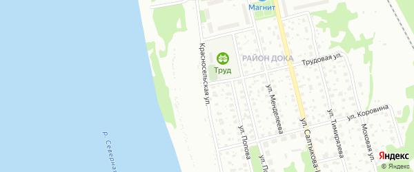 Красносельская улица на карте Котласа с номерами домов